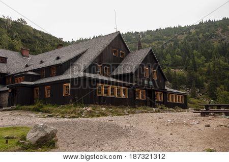 Samotnia, Mountain Hut In Karkonosze (giant Mountains), Poland.