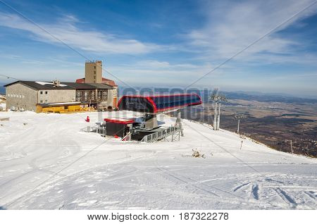 Upper Station Of Chairlift On Skalnate Pleso.