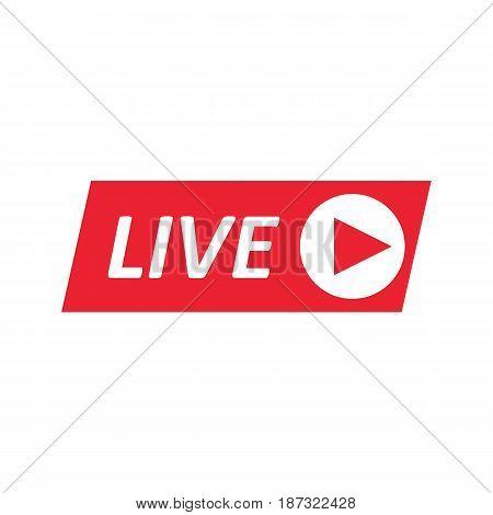 Live Stream sign emblem logo. Vector Illustration