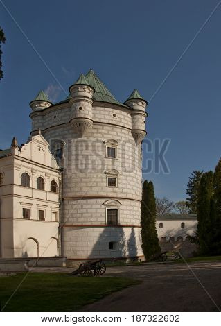Royal Tower In Krasiczyn Castle In Poland.