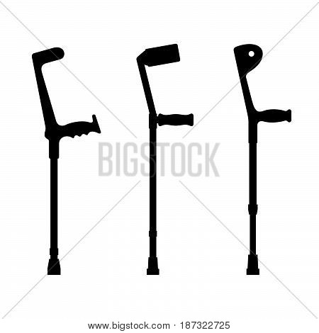 Three elbow crutches ( shade pictures )