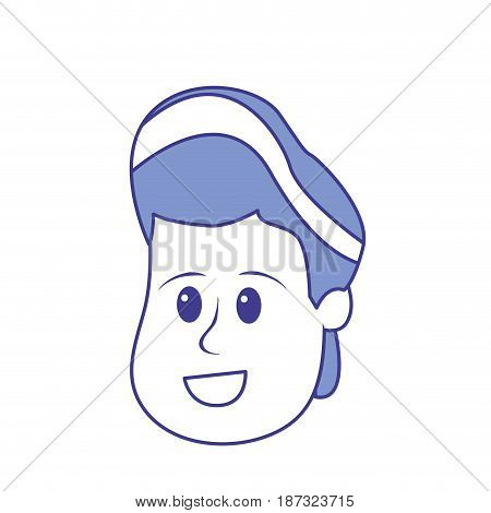 happy and nice head boy with hairstyle, vector illustration