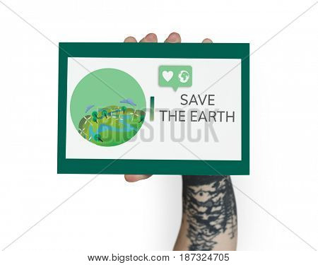 Save World Earth Planet Concept