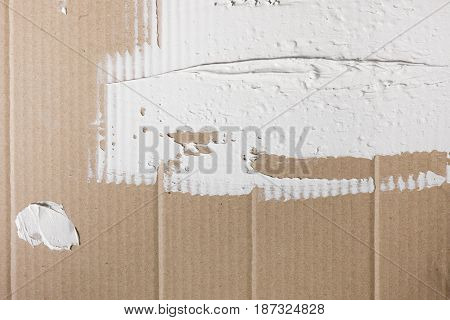 Background Building Plaster Cardboard Spread White Repair Construction Abstract Mess Concept