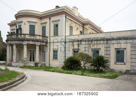 Mon Repos Palace In Corfu Island, Greece