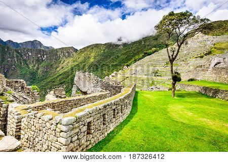 Machu Picchu Peru - Ruins of Inca Empire city in Cusco region amazing place of South America.