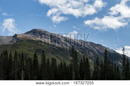 A gradually sloping mountain in Kananaskis country.