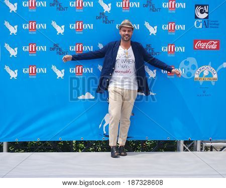 Giffoni Valle Piana Sa Italy - July 19 2014 : Marco D'Amore at Giffoni Film Festival 2014 - on July 19 2014 in Giffoni Valle Piana Italy