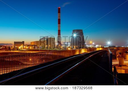 Railroad To Power Plant