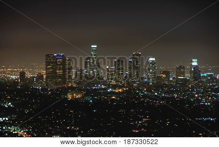 Night Downtown Los Angeles, California United States