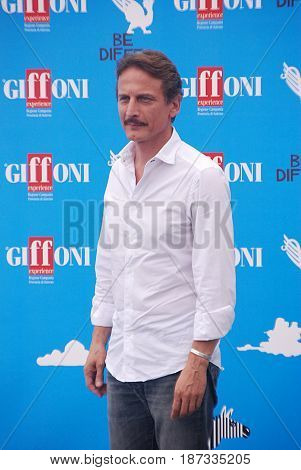 Giffoni Valle Piana Sa Italy - July 24 2014 : Cesare Bocci at Giffoni Film Festival 2014 - on July 24 2014 in Giffoni Valle Piana Italy