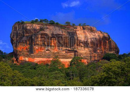 temple and fortress ruins at Sigiryia Srilanka