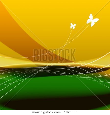 poster of Summer Background illustration filled with warm colors
