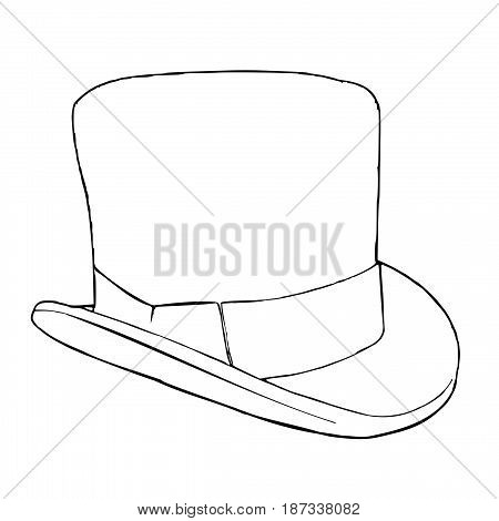 Retro cylinder hat used by gentlemen in 19th and early 20th century