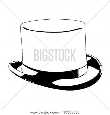 Illustration of an vintage cylinder aka tophat