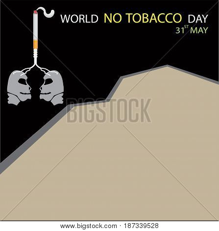 World no tobacco day, Background with Copy Space, vector illustration.
