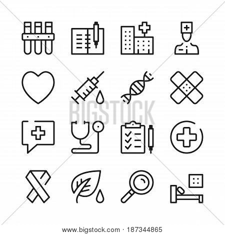 Medicine and healthcare line icons set. Modern graphic design concepts, simple outline elements collection. Vector line icons