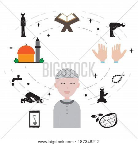 islam and ramadan icon vector illustration design