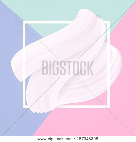 Pastel colors and white smear in frame light abstract background drawing vector texture