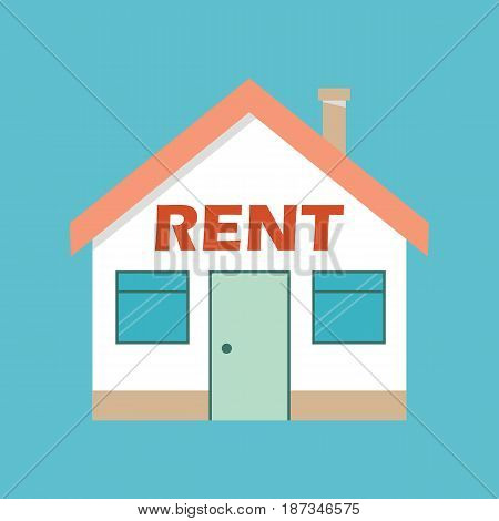 real estate rent concept rent house. vector.