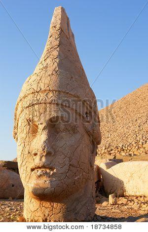 Monumental god heads in Nemrut, Turkey poster