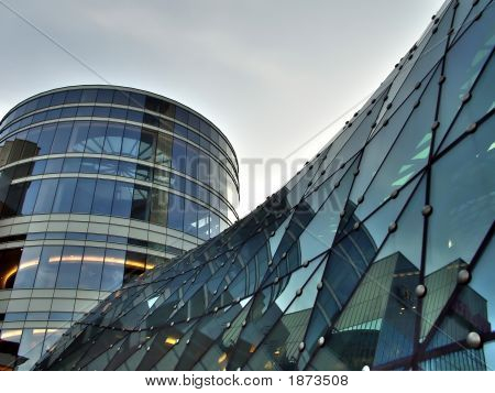 Glass Building Roof And Tower