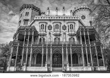 Famous Hluboka castle in Czech Republic, Europe