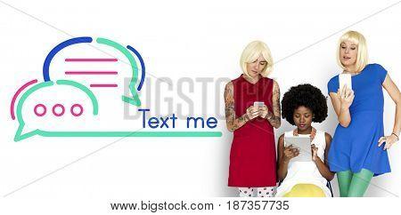 Text Me Communication Connection Concept