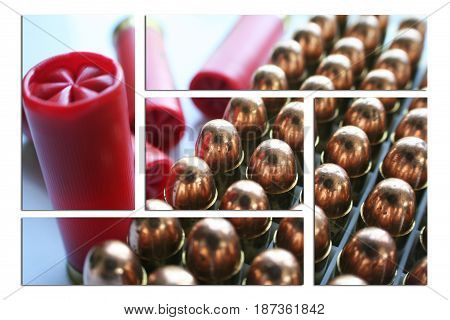 Ammo Close Up Art High Quality Stock Photo