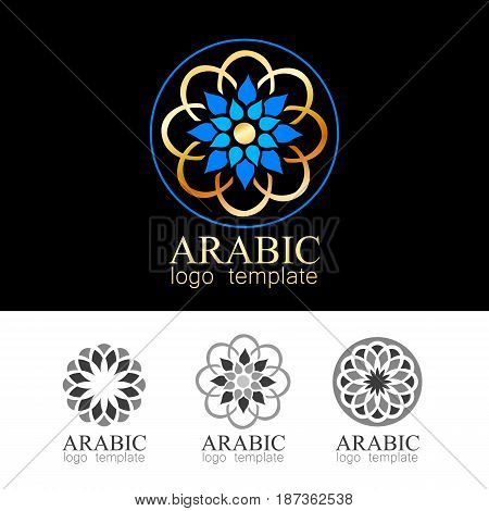 Arabic mandala. Ornate element for design. Place for text. Vector ornamental pattern template.