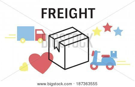 Logistics concept isolated on white background