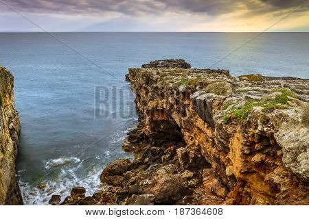 Boca do inferno a rocky cliff in Portugal