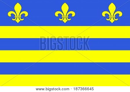 Flag of Montreuil or Montreuil-sur-Mer is a sub-prefecture in the Pas-de-Calais department in northern France