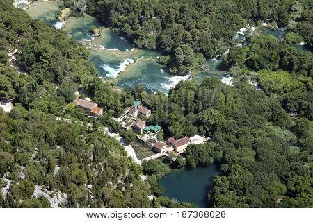 Krka River with its waterfalls is a spacious largely unchanged region of exceptional and multifaceted natural value