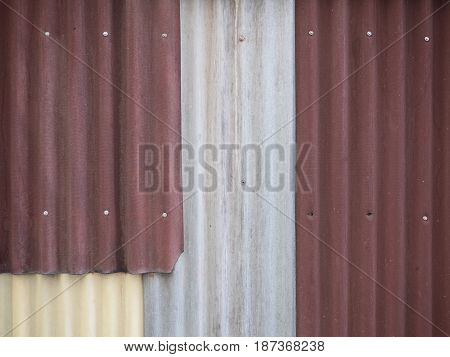 A rust on zinc wall for background