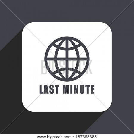 Last minute flat design web icon isolated on gray background