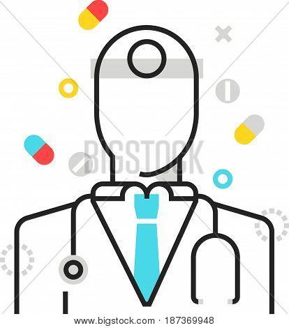 Color Box Icon, Health Protection Illustration, Icon
