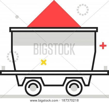 Color Box Icon, Coal Mining Illustration, Icon