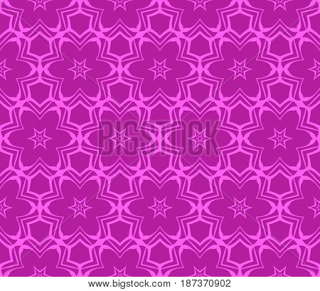 Seamless Geometric Pattern With Floral Style Ornament On Color Background. For Greeting Cards, Invit