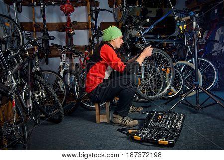 Master Bike Repairs In The Workshop 13