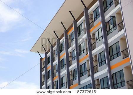 Modern new commercial apartment condominium building .