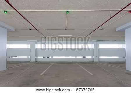 Parking garage interior industrial buildingempty space car park interior