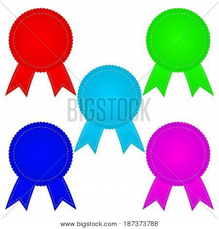 Sticker badges. Colorful set. Vector illustration isolated on white background.