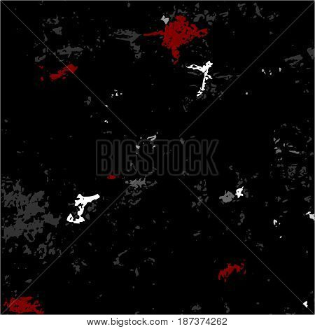 Dark Grunge Scratched Dirty Dusty Old Weather-beaten Background With Bloody Spots