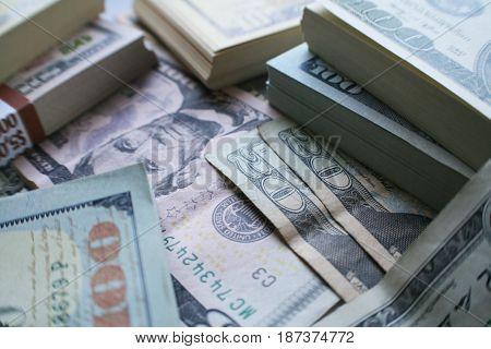 Stacks Of Money Close Up High Quality