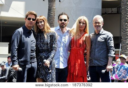 Tom Cruise, Sofia Boutella, Jake Johnson, Annabelle Wallis, Alex Kurtzman at Universal Celebrates