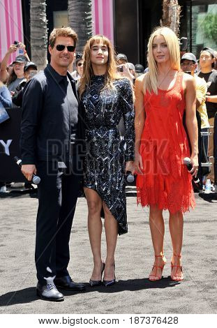 Tom Cruise, Sofia Boutella and Annabelle Wallis at Universal Celebrates
