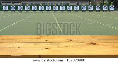 Archery field for the competition. - Archery field