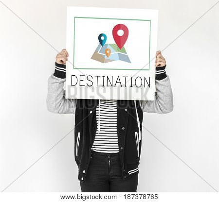 Map Pin Location Direction Position Graphic
