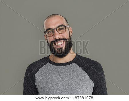 Caucasian Man Smiling Casual